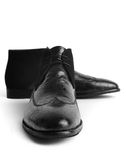 Pair of leather men's shoes Royalty Free Stock Photo