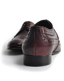 Pair of leather men's shoes Stock Photos