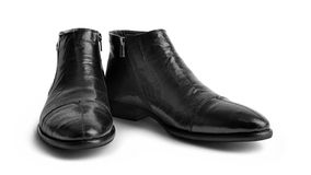 Pair of leather men's shoes Royalty Free Stock Images