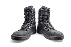 Pair of leather military boots Royalty Free Stock Photos
