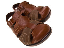 Pair of leather sandals Stock Photography