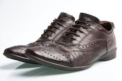 A pair of leather shoes for men Stock Images