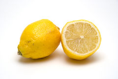 Pair of lemons royalty free stock photography