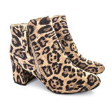 Pair Of Leopard Skin Boots Stock Photos