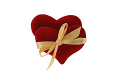 Pair of linked hearts Royalty Free Stock Photos
