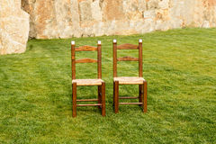 A Pair of Lonely Chairs Royalty Free Stock Images