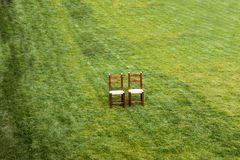 A Pair of Lonely Chairs Royalty Free Stock Photos