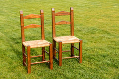 A Pair of Lonely Chairs Stock Photo