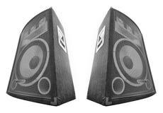 Pair of loud speakers Royalty Free Stock Photo