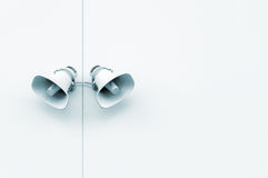 Pair of loudspeakers on the wall Royalty Free Stock Photos