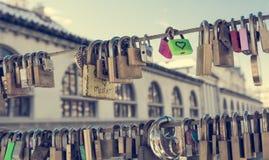 Pair of love locks Royalty Free Stock Images