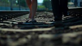 Pair of lovers. stock video footage