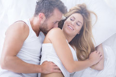 Pair of lovers flirting Stock Photography