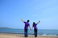 A pair of lovers  in the Seaside Royalty Free Stock Image