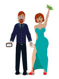 A pair of lovers on a white background vector illustration