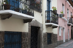 Houses with balconies at the Calle La Ronda Royalty Free Stock Photo