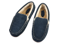 Pair of male house slippers Royalty Free Stock Photo