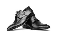 Pair of male shoes Stock Images