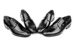 Pair of male shoes Stock Photos
