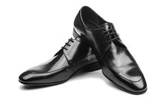 Pair of male shoes Stock Photo
