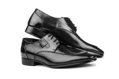 Pair of male shoes Royalty Free Stock Photos