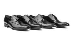 Pair of male shoes Royalty Free Stock Images