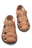 Pair of male summer sandals Royalty Free Stock Photography