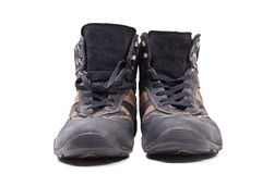 Pair of man autumn boots Royalty Free Stock Photography