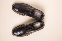 Pair of man brogues shoes Royalty Free Stock Photos