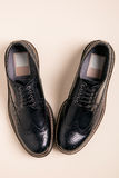 Pair of man brogues shoes Royalty Free Stock Images