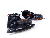 Pair of man ice hockey skates Stock Photo