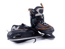 Pair of man ice hockey skates Royalty Free Stock Image