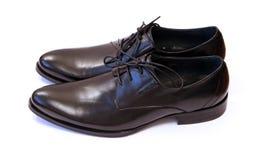 Pair of  man's black shoes Stock Photos