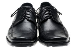 Pair man's black shoes Stock Photography