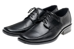 Pair man's black shoes Royalty Free Stock Images