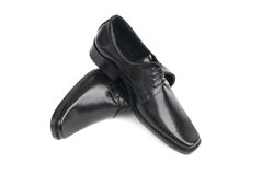 Pair of man's black shoes Stock Image