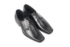 Pair of man's black shoes Stock Photo