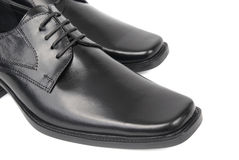 Pair of man's black shoes Royalty Free Stock Photo