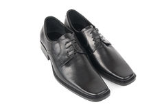 Pair of man's black shoes Stock Photography