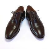 Pair of man's brown shoes Royalty Free Stock Photography