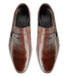 Pair of man's shoes Royalty Free Stock Images