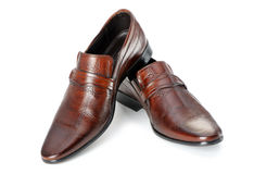 Pair of man's shoes Royalty Free Stock Photos