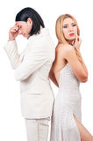 Pair of man and woman Royalty Free Stock Images