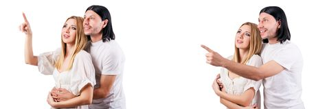 The pair of man and woman in love Stock Photography