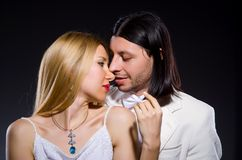 The pair of man and woman in love Royalty Free Stock Images