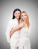Pair of man and woman in love Stock Images
