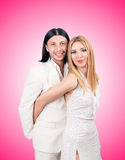 Pair of man and woman in love Stock Photos