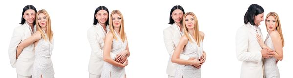 The pair of man and woman in love Royalty Free Stock Photos