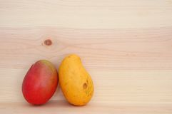 A pair of mango Royalty Free Stock Photos