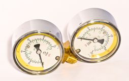 Pair of manometers Royalty Free Stock Photo